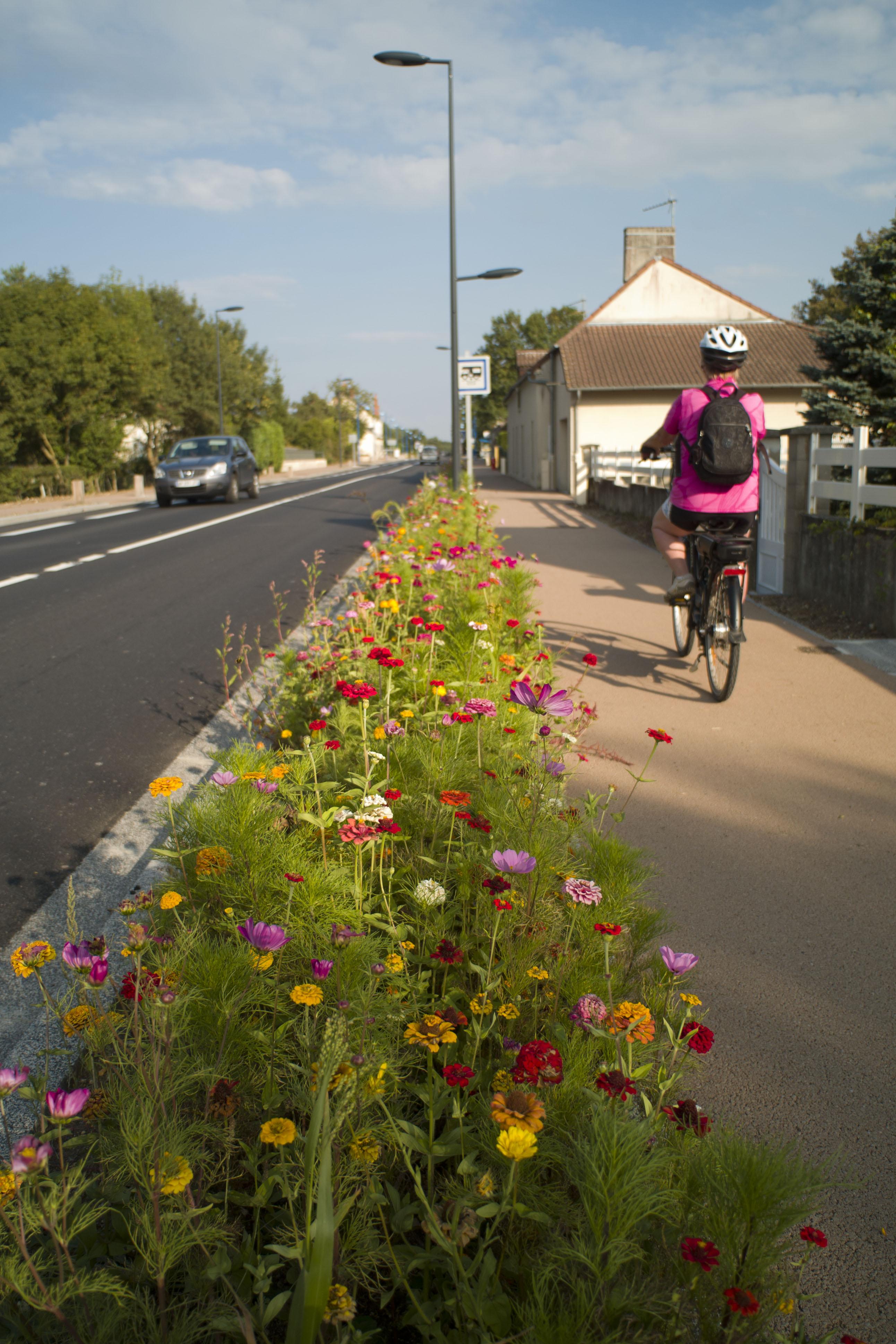 Vélo dans les rue de Mery